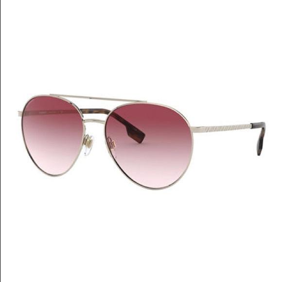 🆕 Burberry Metal Aviator Sunglasses